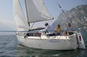 I fiabbini Sergio ed Helmut sulla barca di Luciano P.