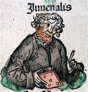 """Decimo Giunio Giovenale, 50-127 d.C., autore delle """"Satire"""""""