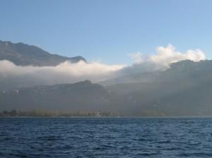 Nuvole e Riva dal lago