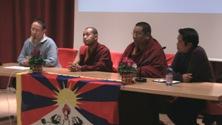 Gianni Festini Brosa, Tashi Tulku, Lama Geshe Lodoe Gyatso e Dhundup Chomphel Gelek (presidente sezione italiana di SFT - Students for a Free Tibet)