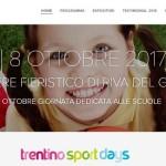 Dal 6 all'8 ottobre al Quartiere Fieristico di Riva del Garda  Torna Trentino Sport Days