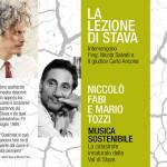 """VAL DI STAVA: Nicolò Fabi e Mario Tozzi con """"Musica sostenibile"""" il 23 ottobre"""