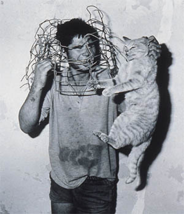 Quality: 2nd Generation. Exhibition: The exhibition is The Citigroup Private Bank Photography Prize 2002, 1 February - 31 March 2002. Image: Roger Ballen, Cat Catcher, 1998. For further information: please contact The Photographers' Gallery on +44 (0)20 7831 1772 ext. 211