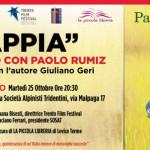 "LIBRI: Paolo Rumiz presenta ""Appia"" a Trento"