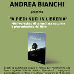 A Piedi Nudi: Incontro e workshop in libreria con Andrea Bianchi l'11 di novembre