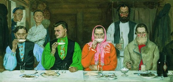 Andrei Ryabushkin, Tea party, 1903