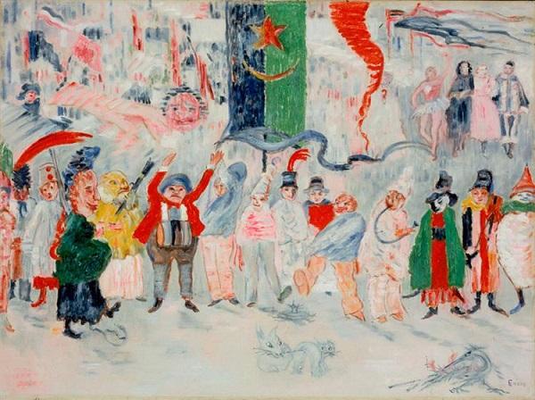 James Ensor, Carnevale nelle Fiandre, 1931