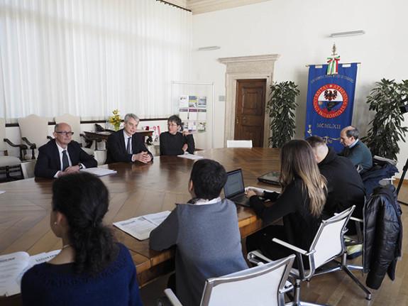 Presentazione Career Fair presso il Rettorato  Roberto Busato, Paolo Collini, Paola Quaglia A�2018 ph Romano Magrone