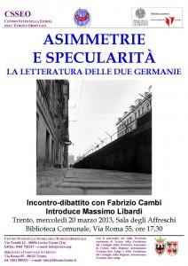 ASIMMETRIE E SPECULARITÀ La letteratura delle due Germanie