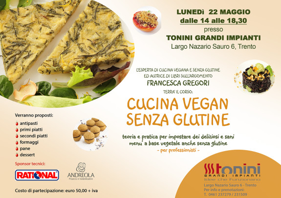 Cucina vegan senza glutine professionale
