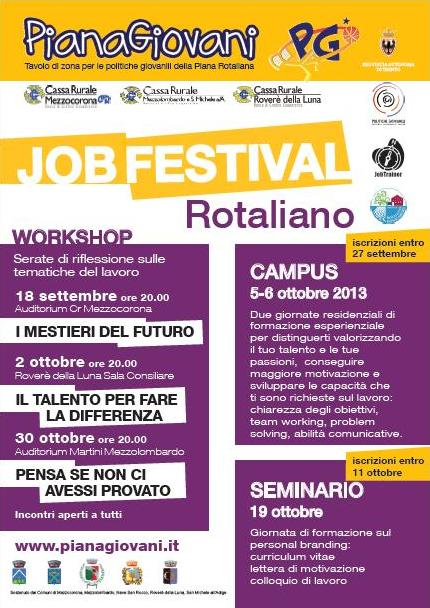 Job festival rotaliano workshop i mestieri del futuro for Gettare i piani del workshop