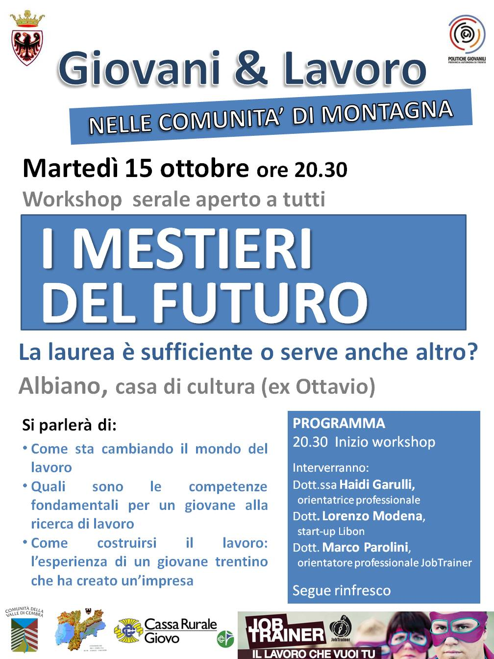 I mestieri del futuro for Gettare i piani del workshop