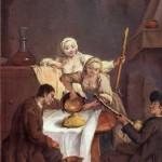 """CANEDERLI DI POLENTA CON PANCETTA: un'ispirazione del Settecento grazie a Pietro Longhi e alla sua """"Polenta"""""""