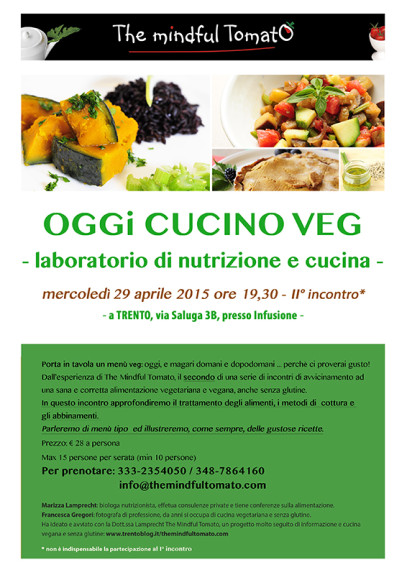 corsi cucina vegan senza glutine trento