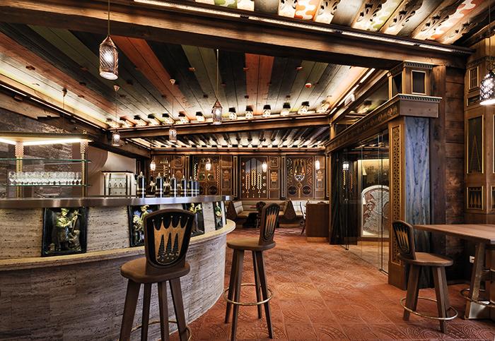 L'interno della birreria Forst Trento