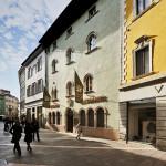 La facciata della birreria Forst a Trento